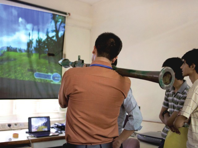 Pakistan Students Technology RPG7 Mines robotics Surveillance