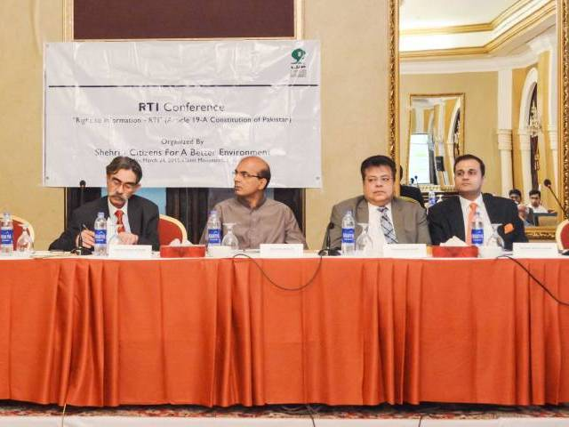 Chief Information Commissioner, KP RTI Commission, Maj (R) Sahibzada Muhammad Khalid Participating in RTI Conference held in Karachi