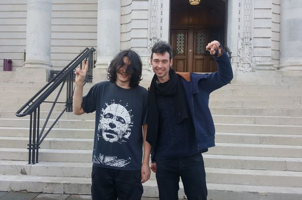Joshua Longbottom (left) and Peter Simpson were acquitted of violent disorder and ABH