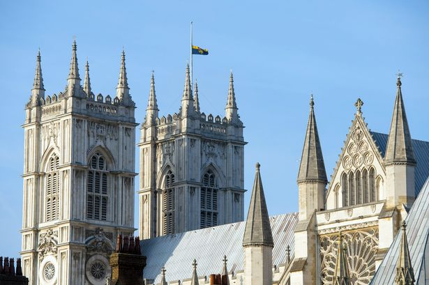 The flag at the Westminster Abbey, London, flies at half mast as a mark of respect for King Abdullah of Saudi Arabia