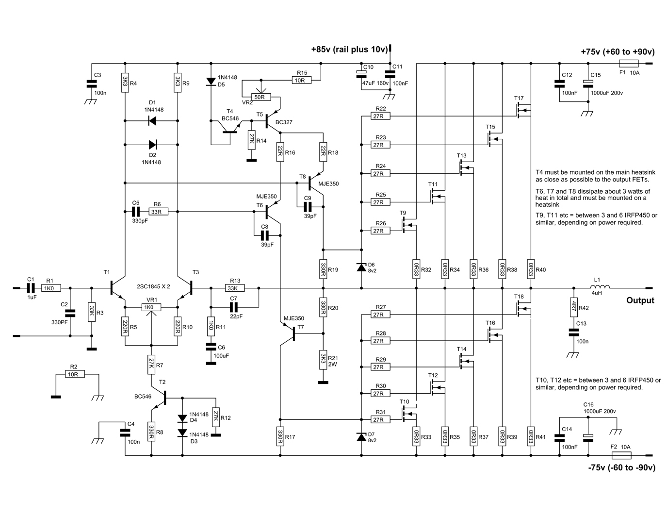 small resolution of 1000 watt amplifier circuit diagram