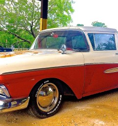 a 1957 ranchero it s first year but the side trim is from a 1958 ranchero so it s a custom it has a slightly greater load capacity than the f 100  [ 3120 x 1720 Pixel ]