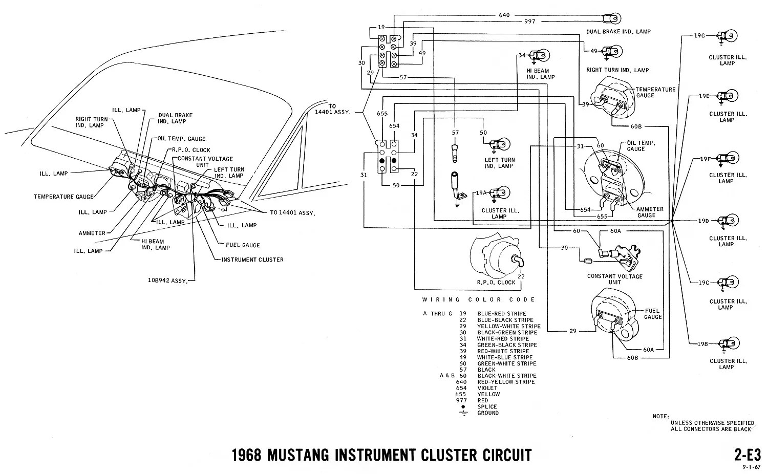 hight resolution of 70 mustang guage cluster wiring harness electrical schematic 1967 ford mustang instrument cluster wiring wiring diagram