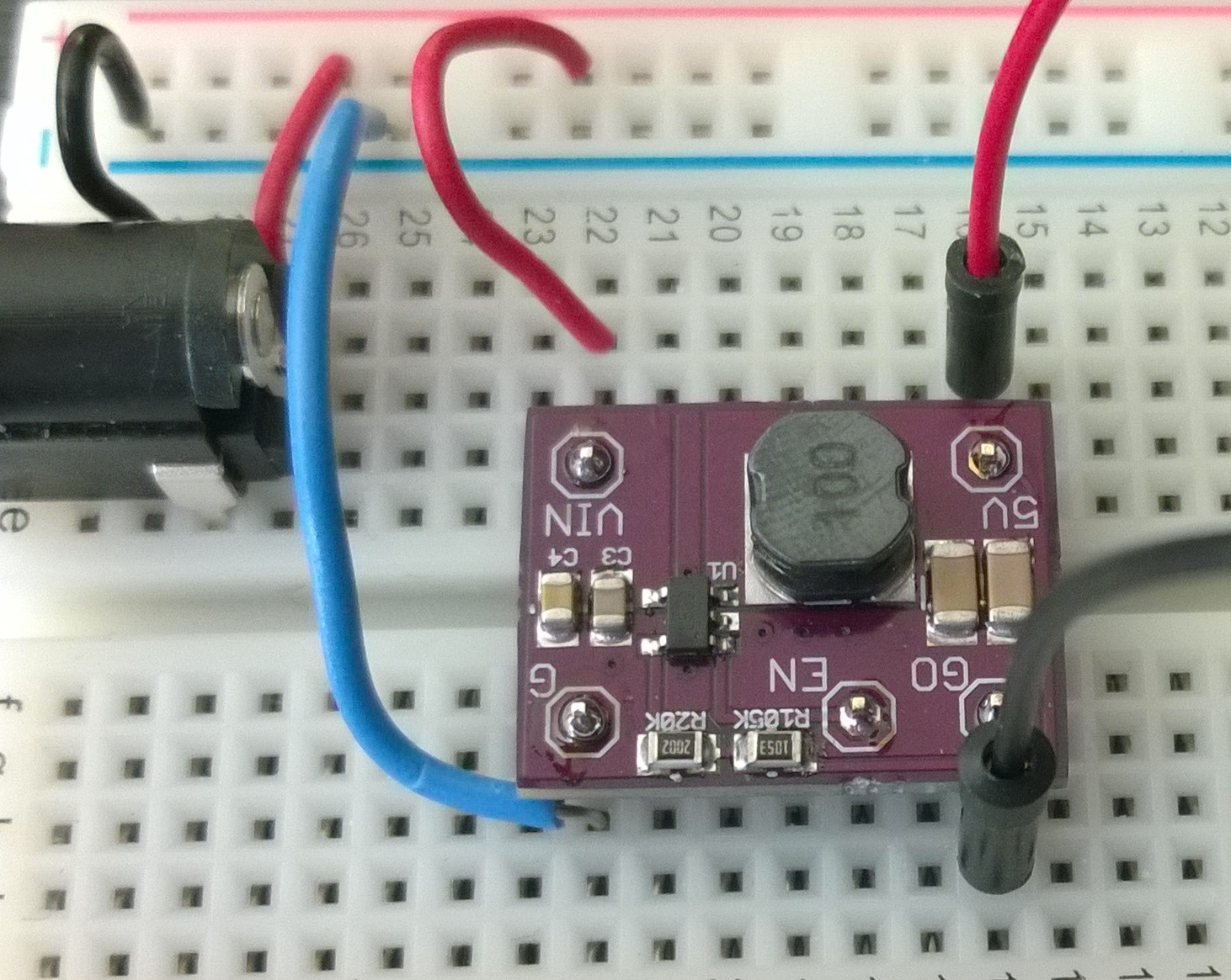 hight resolution of 500ma dc dc buck converter on a breadboard