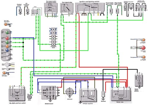 small resolution of 5 series partial wiring diagram showing blue wires from charge indicator lamp that create path to ground at starter relay terminal d click to enlarge