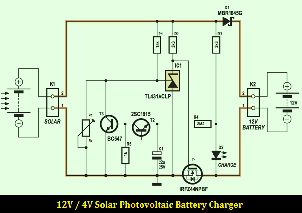 solar power schematic diagram 2006 gmc sierra radio wiring 12v 4a photovoltaic battery charger - design