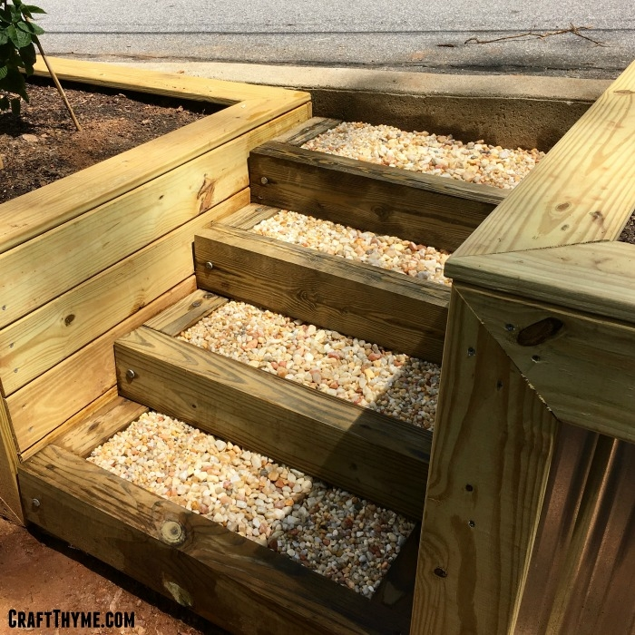 How To Make Timber And Pea Gravel Stairs • The Reaganskopp Homestead | Ready Made Wooden Steps | Stair Treads | Staircase | Deck Stairs | Composite | Stair Stringer