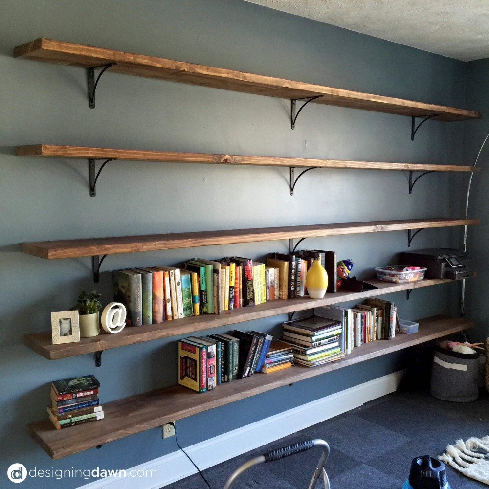 Dawn' House Diy Library Shelving Ad Aesthetic