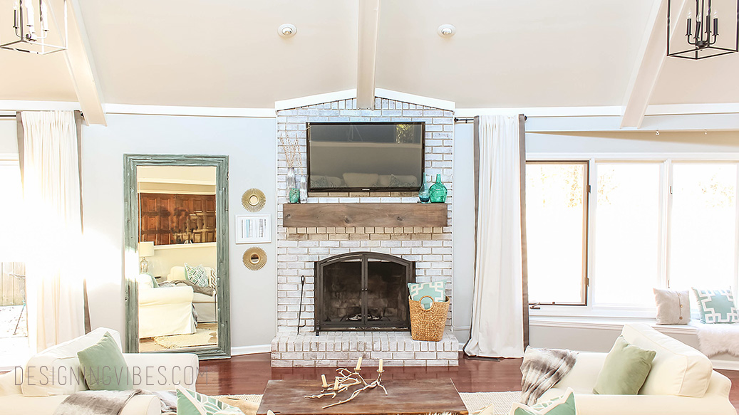 How to Mount a TV Over a Brick Fireplace and Hide the Wires  Designing Vibes  Interior
