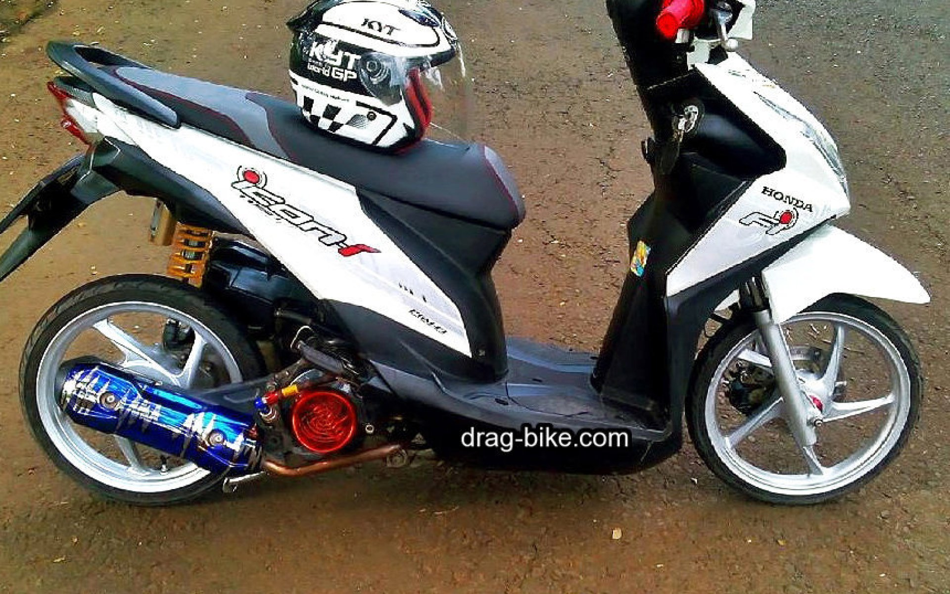 Modifikasi Motor Beat Fi Velg 14  Semut Modifikasi