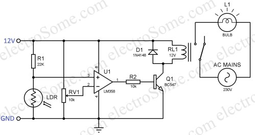 small resolution of automatic night lamp using ldr