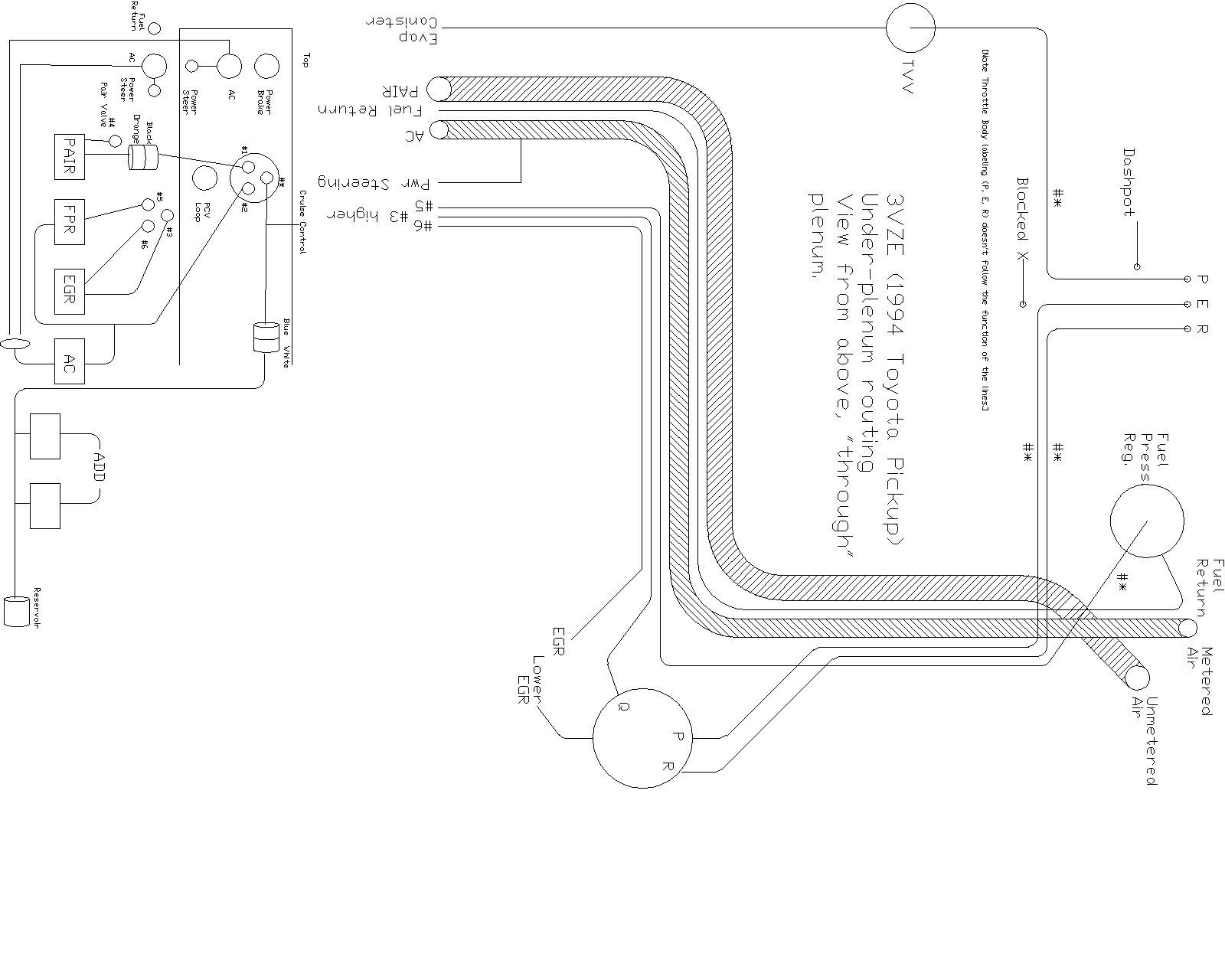 hight resolution of engine diagram toyota pickup engine free engine vacuum line on 92 3 0l 3vze