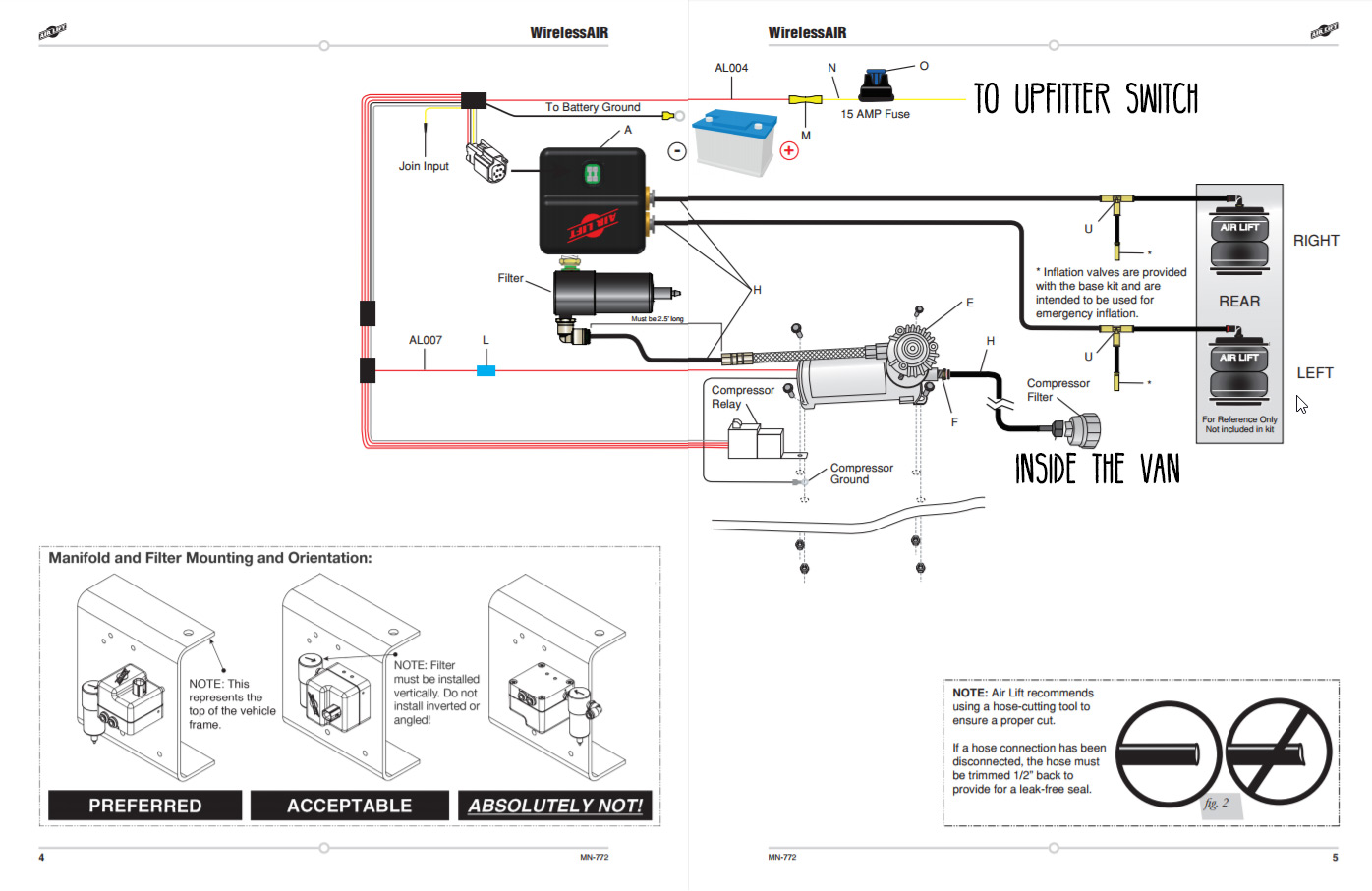 hight resolution of air lift 5000 ultimate air springs kit installation faroutride easy street air ride wiring diagram