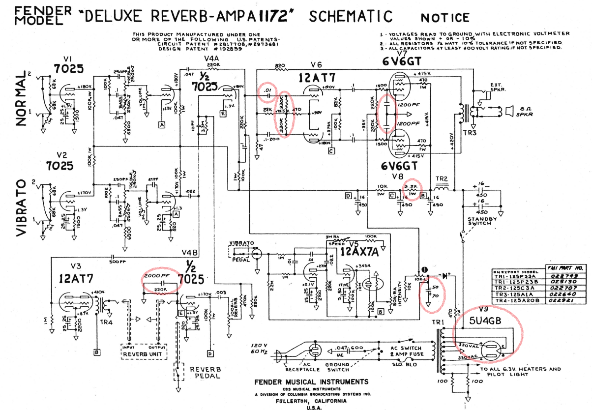 hight resolution of wiring diagram database bf sf deluxe reverb