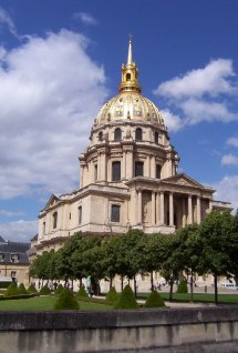 Building with Gold Dome in Paris France