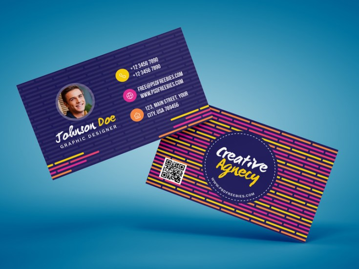 Creative Agency Business Card Template Free Download