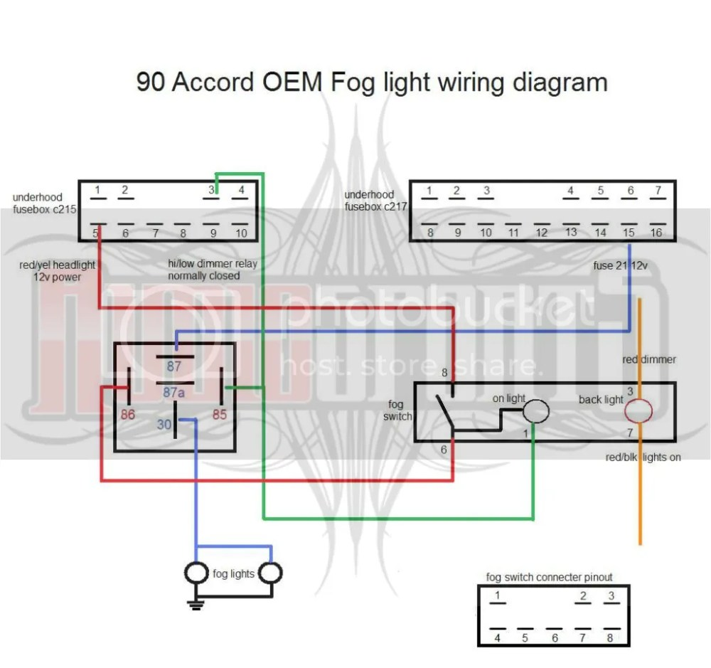 medium resolution of 92 accord fog light wiring wiring diagram data val 1990 honda prelude tail light wiring