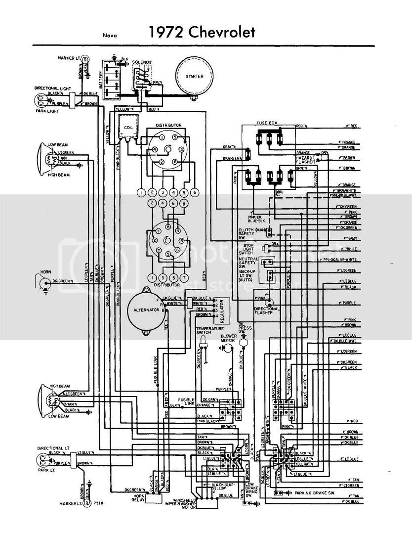 hight resolution of 72 el camino fuse box wiring diagram1972 chevy nova wiring diagram wiring diagram database72 el camino