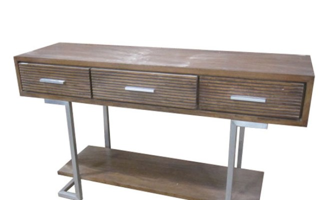 Buy Industrial Rustic Console Table Iron Wood By