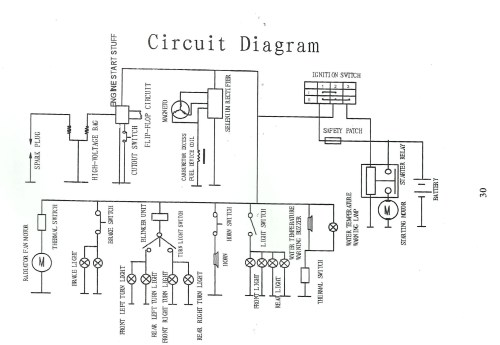small resolution of chinese 110 atv wiring harness