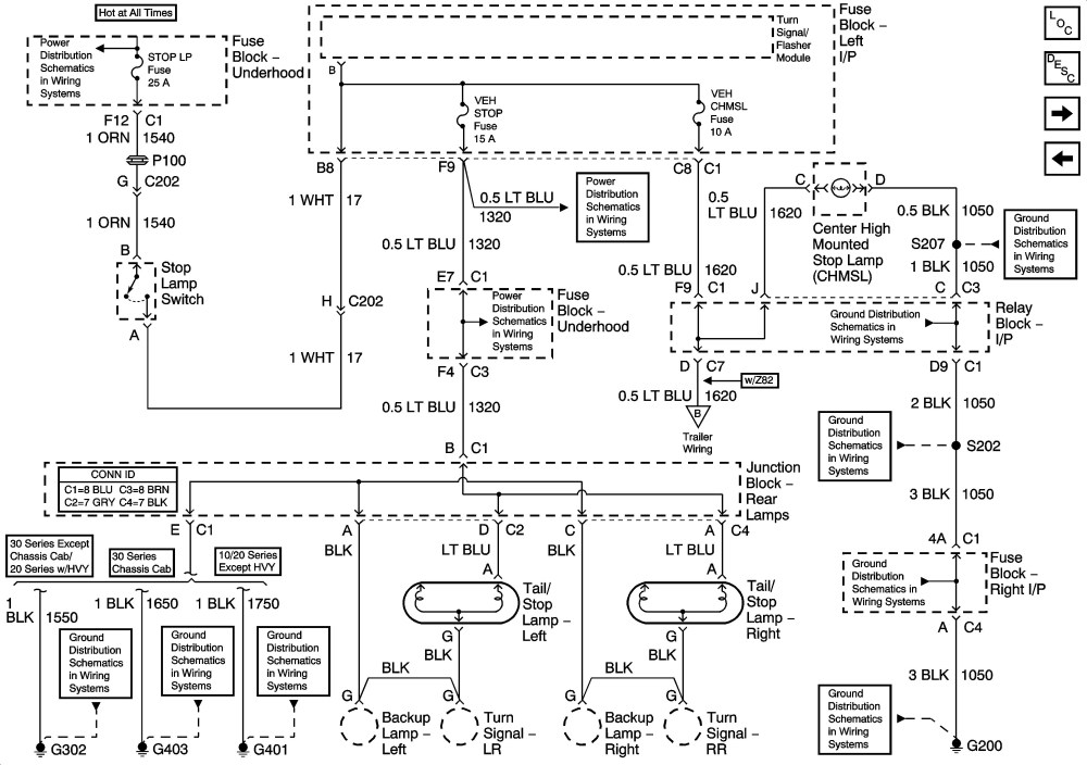 medium resolution of tail light wiring diagram chevy