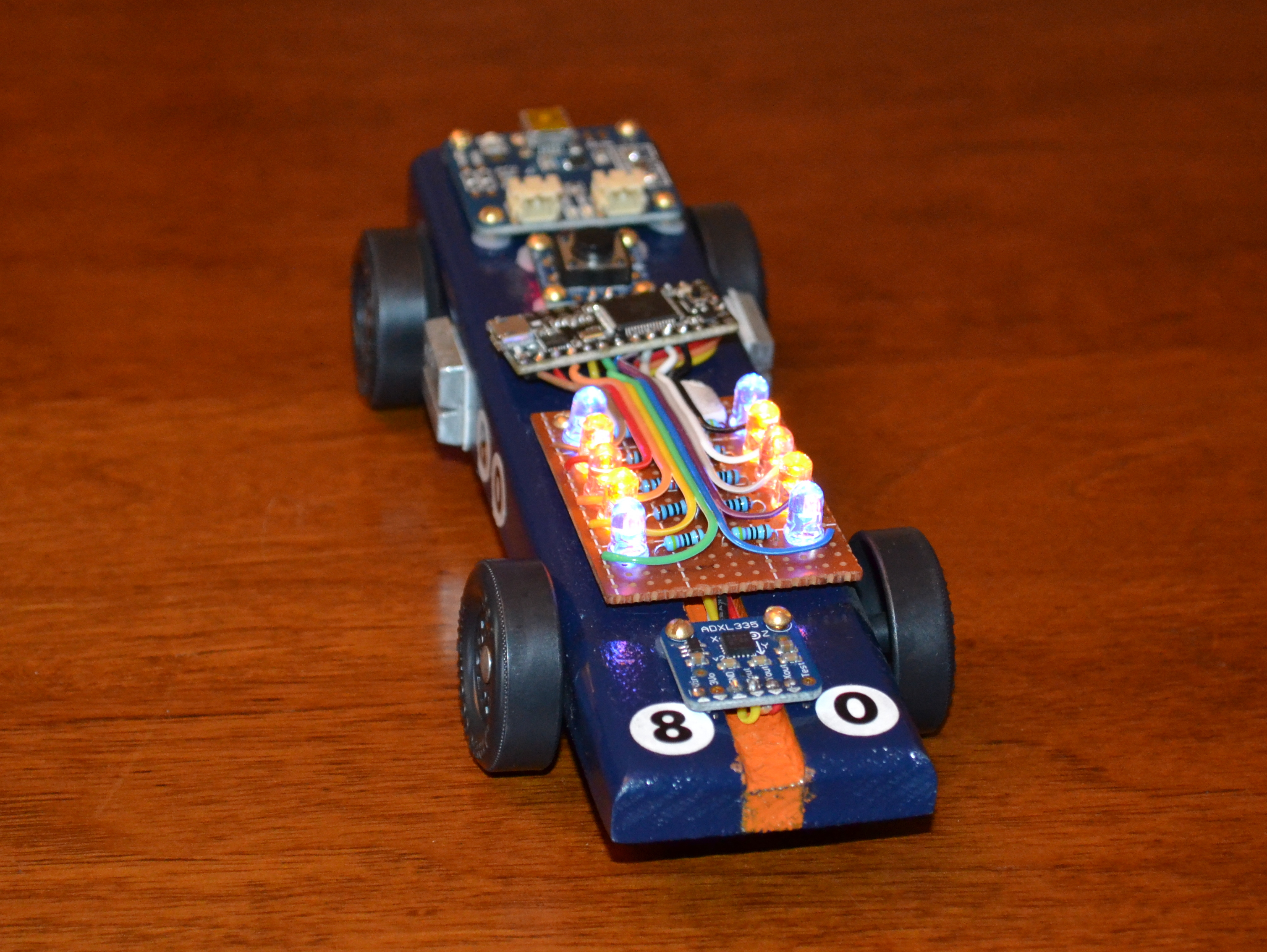 medium resolution of arduino powered pinewood derby race car