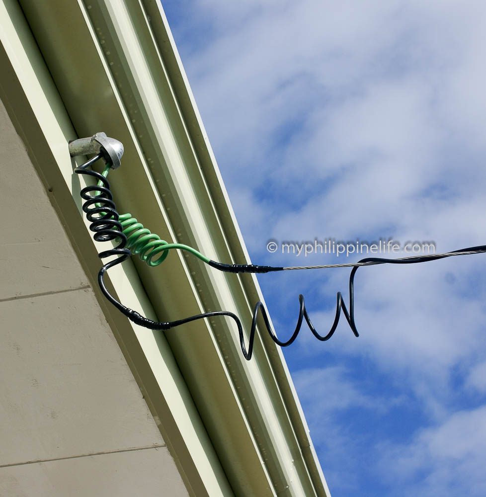 medium resolution of duplex cable from meter to weather head