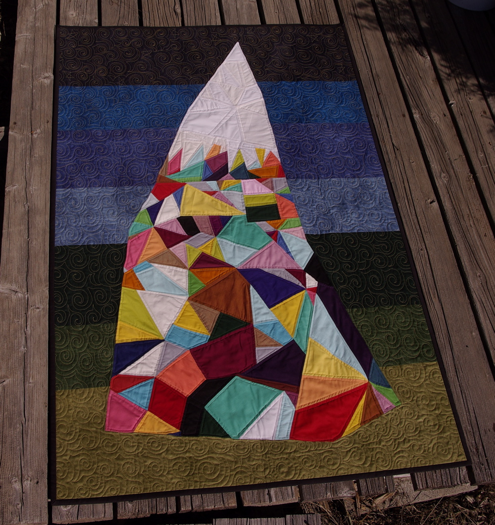 Abstract Mountain Quilt