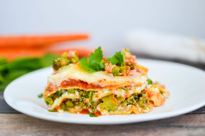 Healthy Spring Vegetable Lasagna  One Hungry Bunny