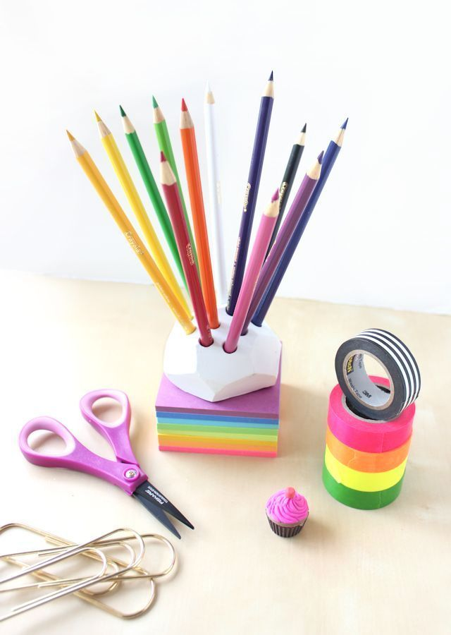 Make a Pencil Holder with Air Dry Clay  Polymer Clay