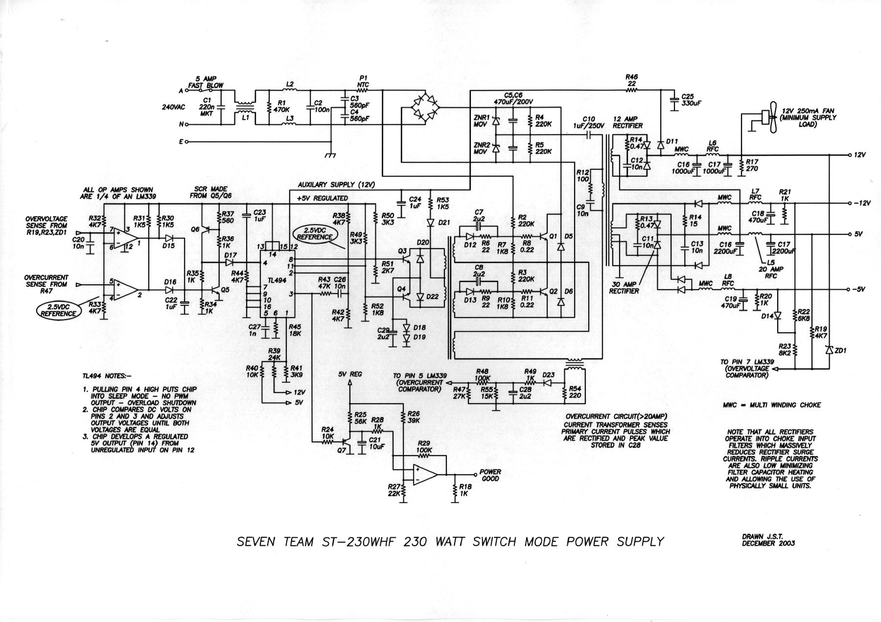 small resolution of 230w switching power supply power supply circuits switching power supply circuit diagram quotes