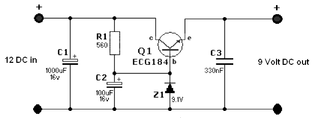 12 volt ups circuit diagram