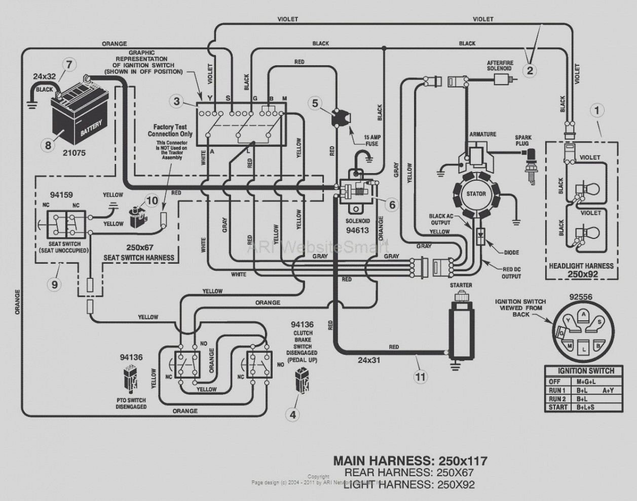 hight resolution of craftsman lawn tractor wiring diagram