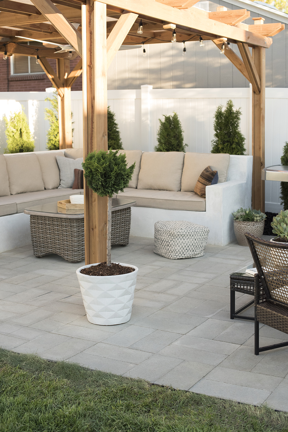 How to Install A Custom Paver Patio  Room for Tuesday Blog