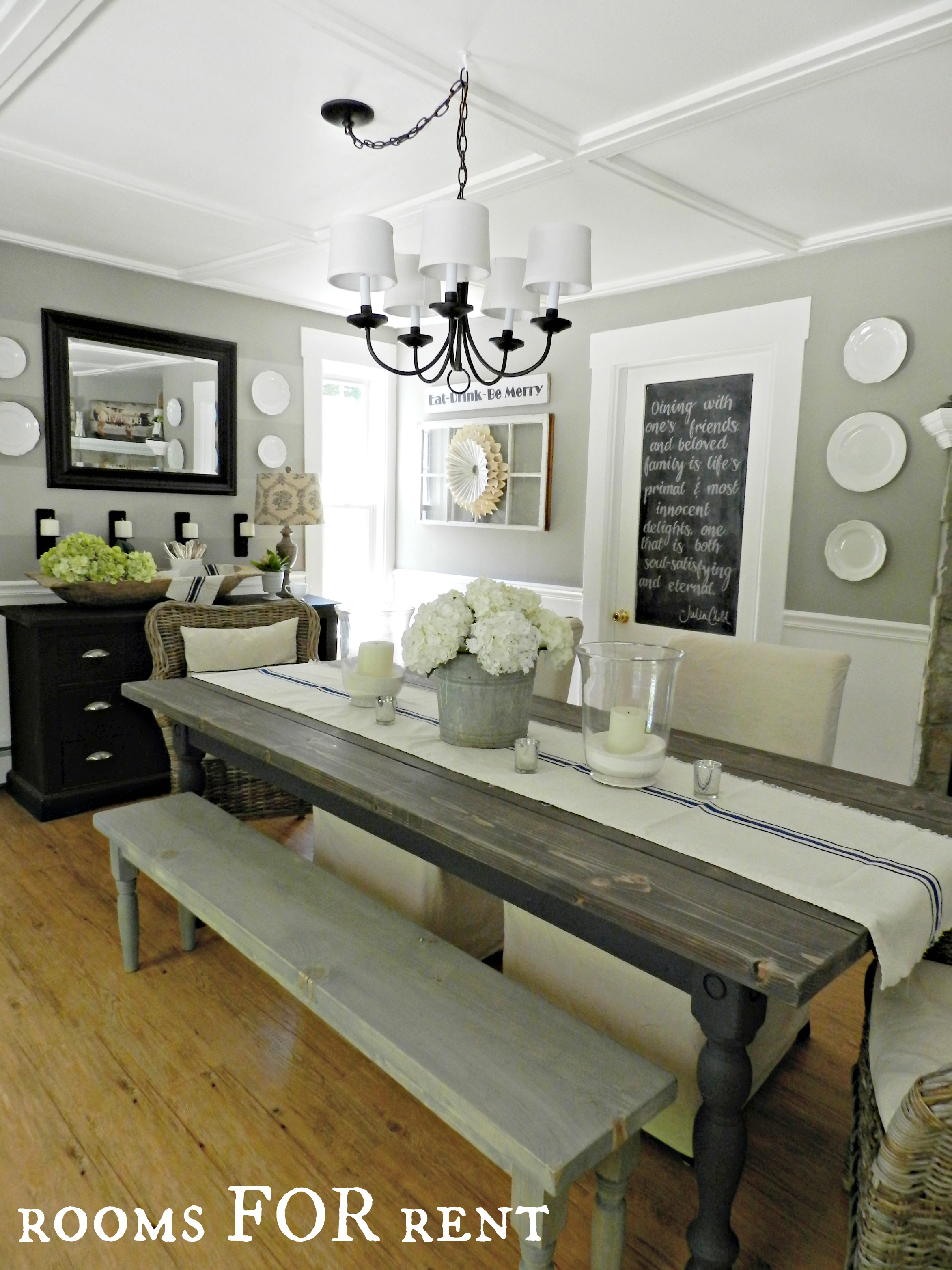 Dining Room UPDATES  a New Chandelier  Rooms For Rent blog