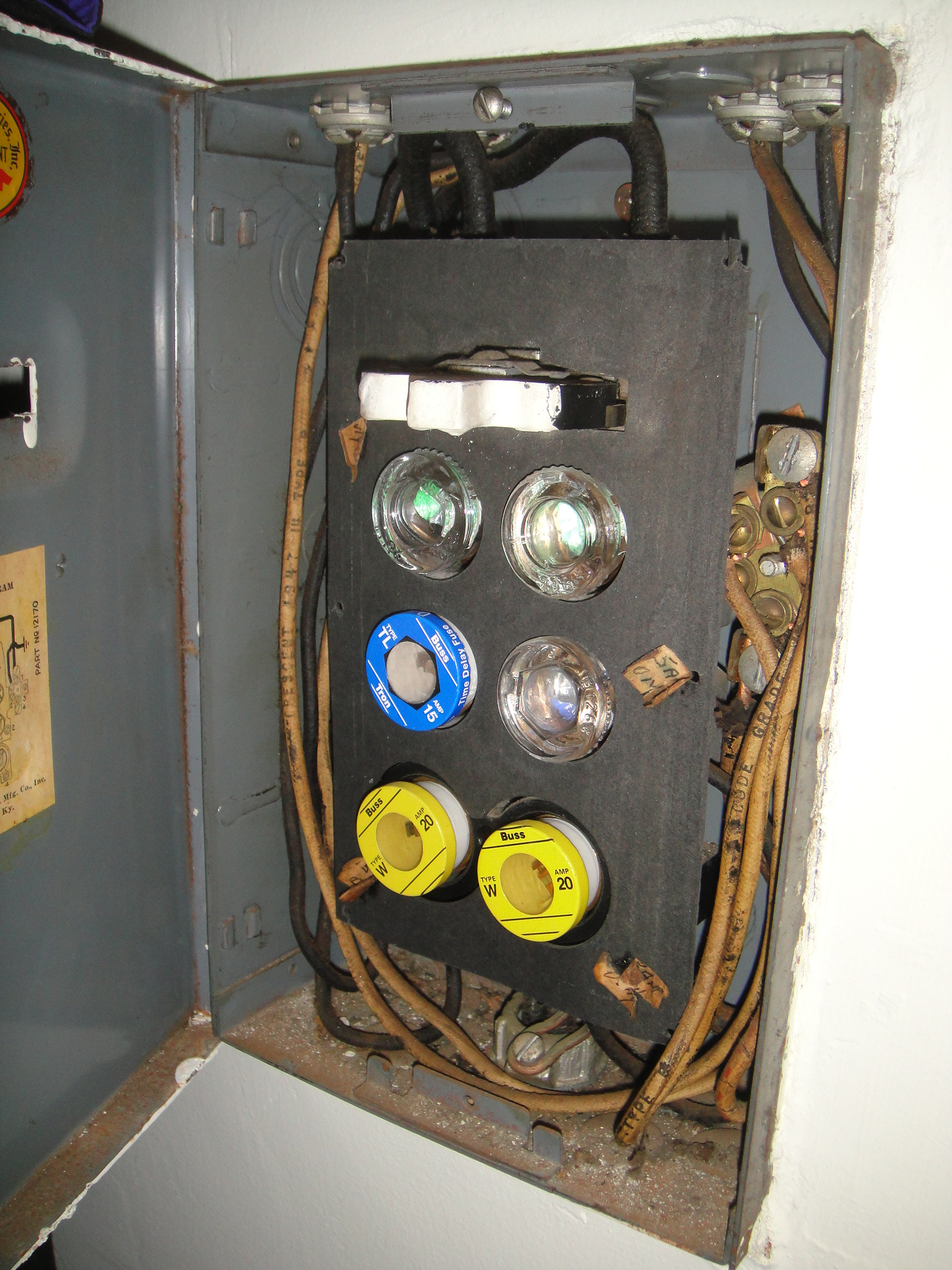 old house fuse box 1970