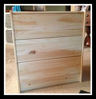 Shizzle Design Ikea Hack Rast 3 Drawer Chest To Rustic