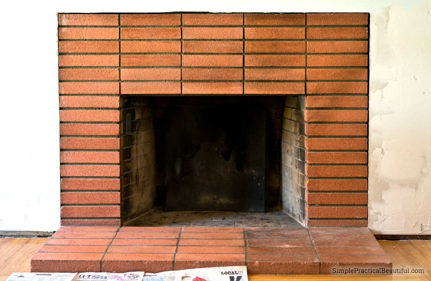 Clean Fireplace Bricks - Simple Practical Beautiful