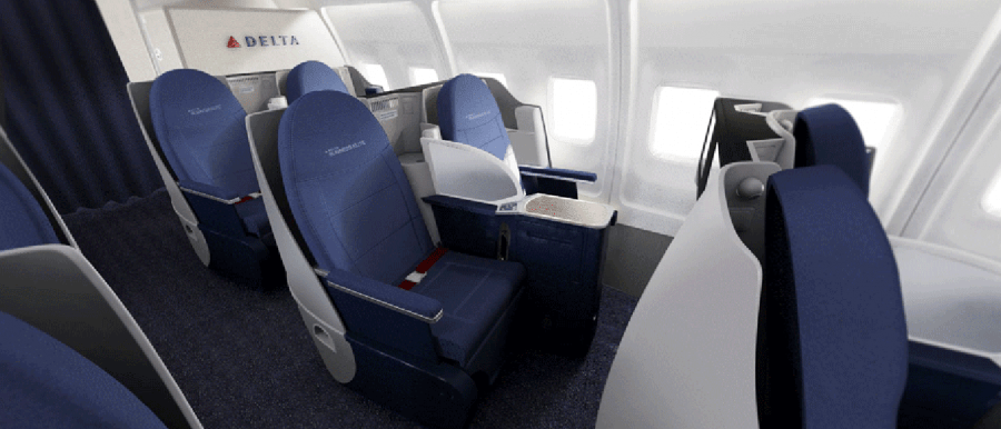 Delta Unveils New 757200 Transcon Interior  Upgrade