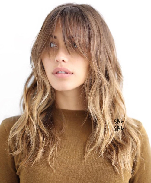 50 Cute Long Layered Haircuts With Bangs 2017