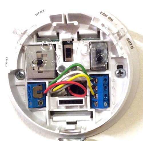 small resolution of honeywell thermostat wiring diagram 4 wire commonly used green white yellow and red thermostat wires this shows where to hook them up in a typical heat