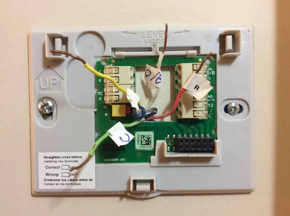 medium resolution of honeywell smart thermostat wiring mount the new thermostat wall plate