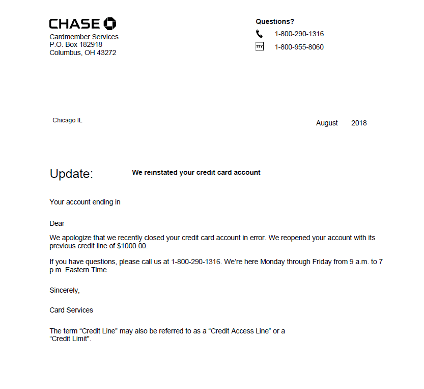 How To Attempt To Get Your Chase Account Reinstated After Shutdown Due To Too Many Inquires Or Accounts Travelinpoints