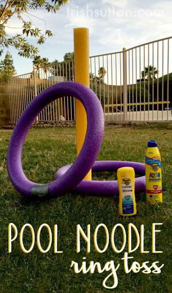 Pool Noodle Ring Toss A Backyard Game