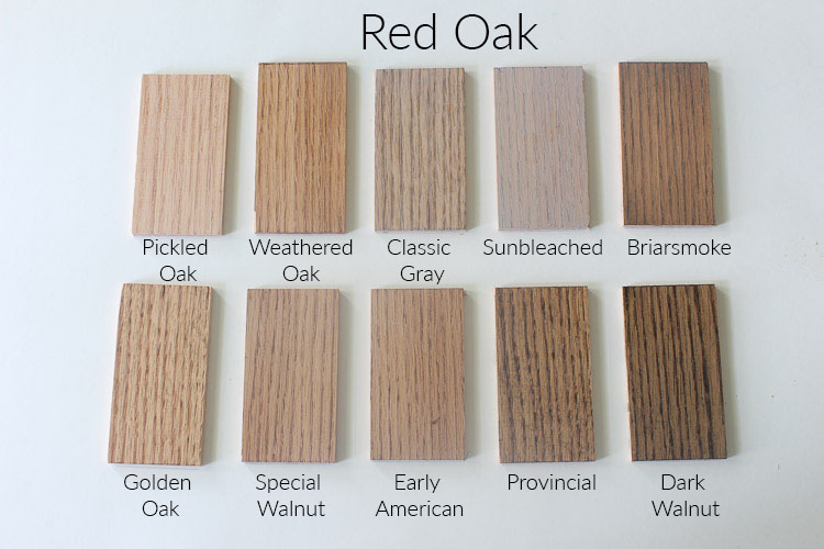 Minwax Natural Stain On Red Oak