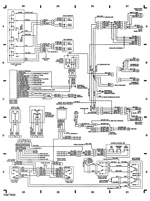 small resolution of 91 dodge wiring diagrams