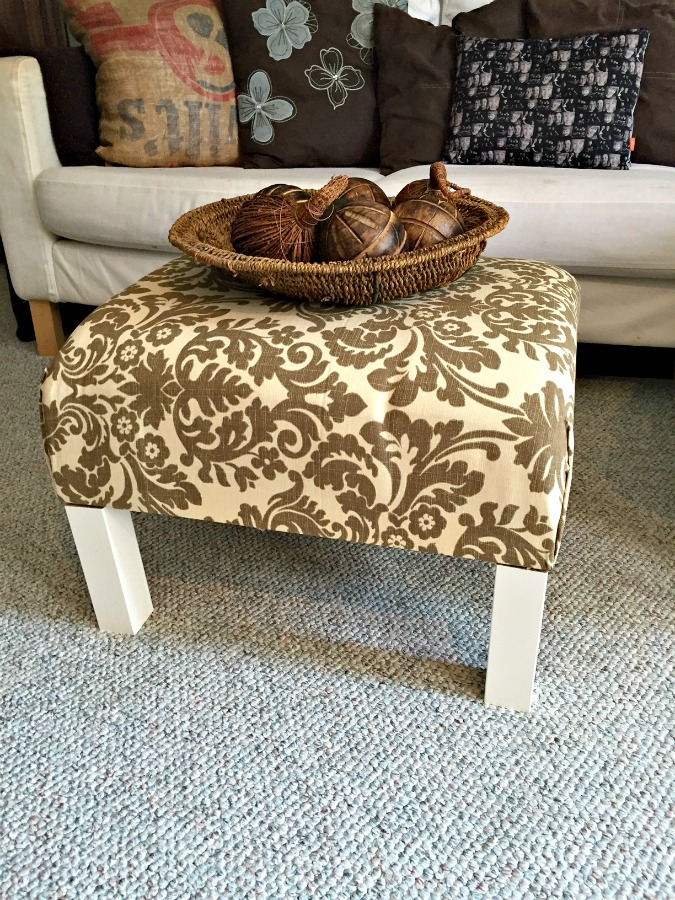 diy ottoman coffee table ikea hack
