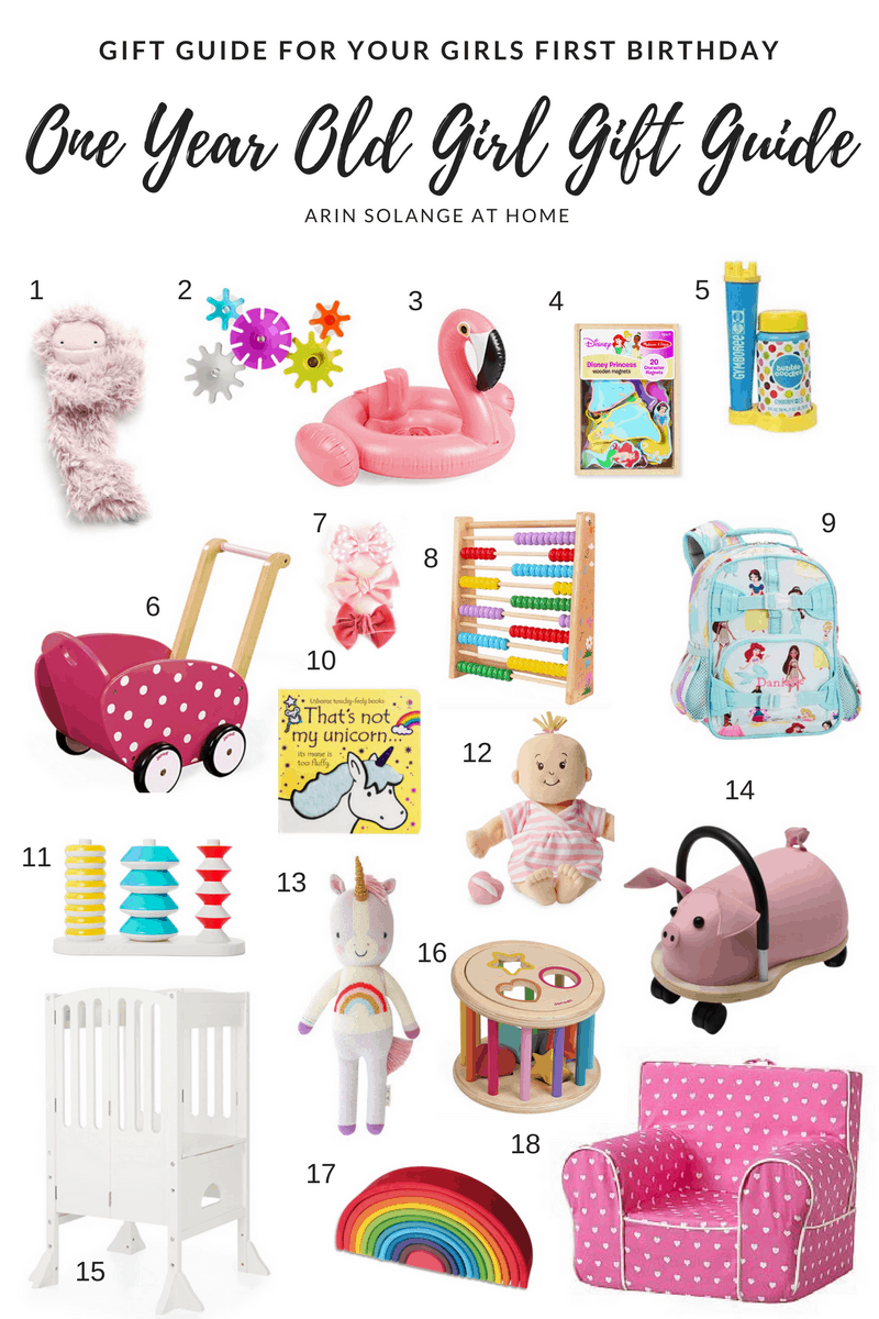 One Year Old Girl Gift Guide Arinsolangeathome
