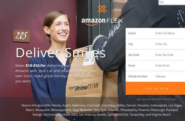 Amazon will pay you 1825 per hour to make deliveries in your own car  The Denver Post