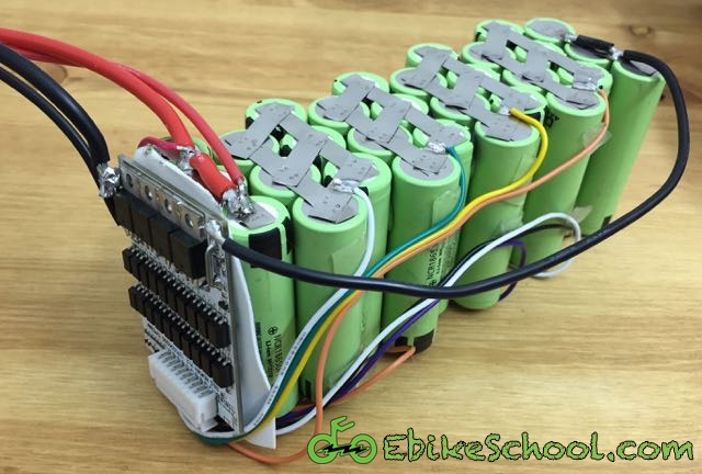 bms wiring diagram ebike pto switch how to build a diy electric bicycle lithium battery from 18650 cells completely wired pack